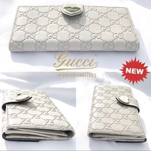 NEW GUCCI GUCCISSIMA RETIRED STYLE HEART WALLET
